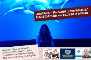 """""""AMA'ARA – The SONG of the WHALES"""" Benefiz-Abend in Passau @ Gasthaus zum """"Streiblwirt"""" in Passau"""