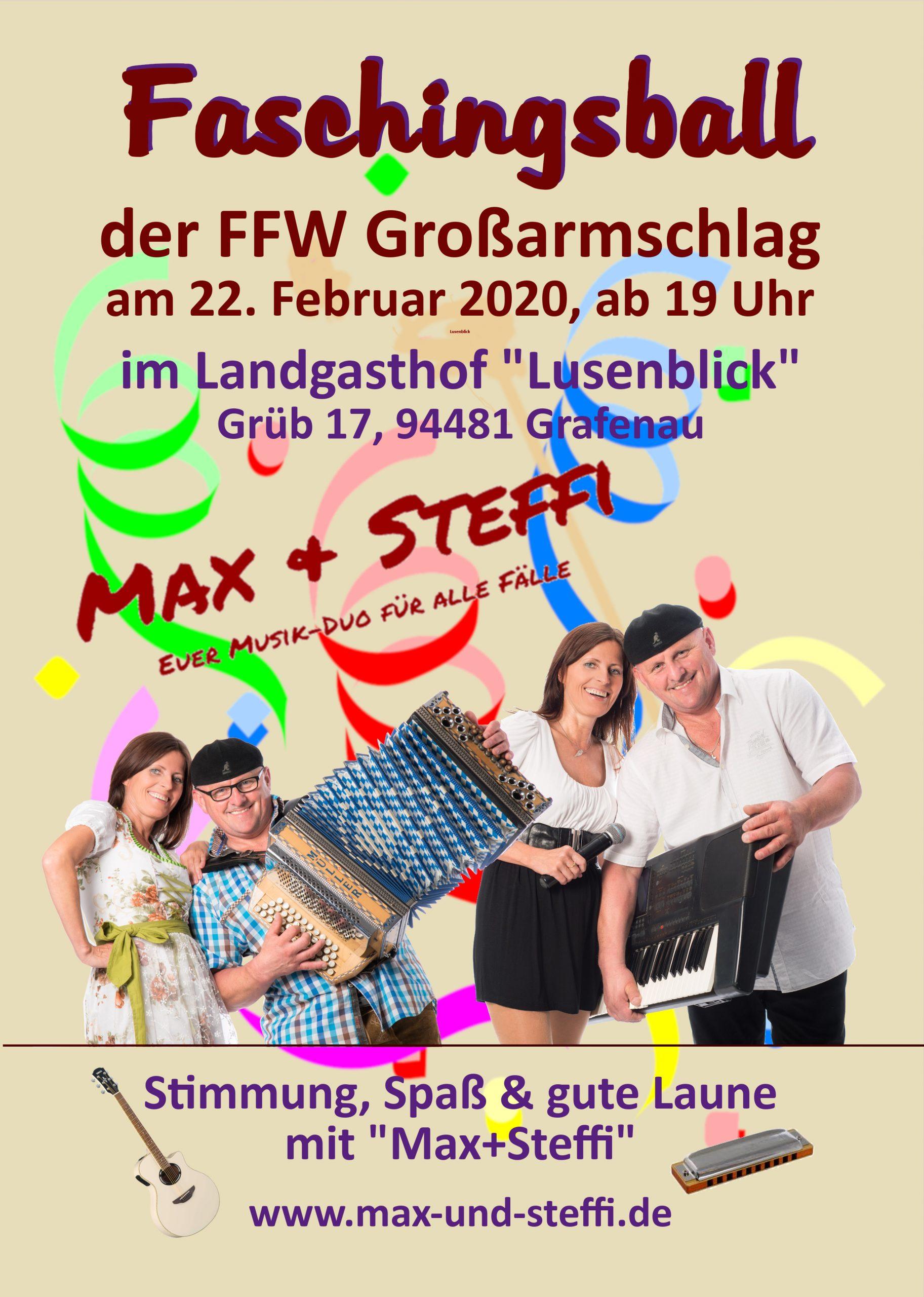 "Faschingsball der FFW Großarmschlag in Grafenau @ im Landgasthof ""Lusenblick"" Grafenau"